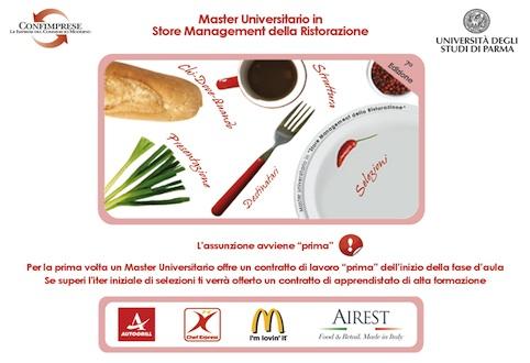 Apprendistato e Master sovvenzionato dalla Regione Emilia per diventare Store Manager della ristorazione