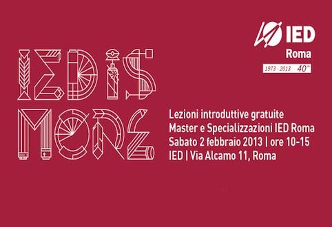 Torna ''IED is more'': a Roma lezioni e lectio gratuite per conoscere i Master e i corsi di specializzazione