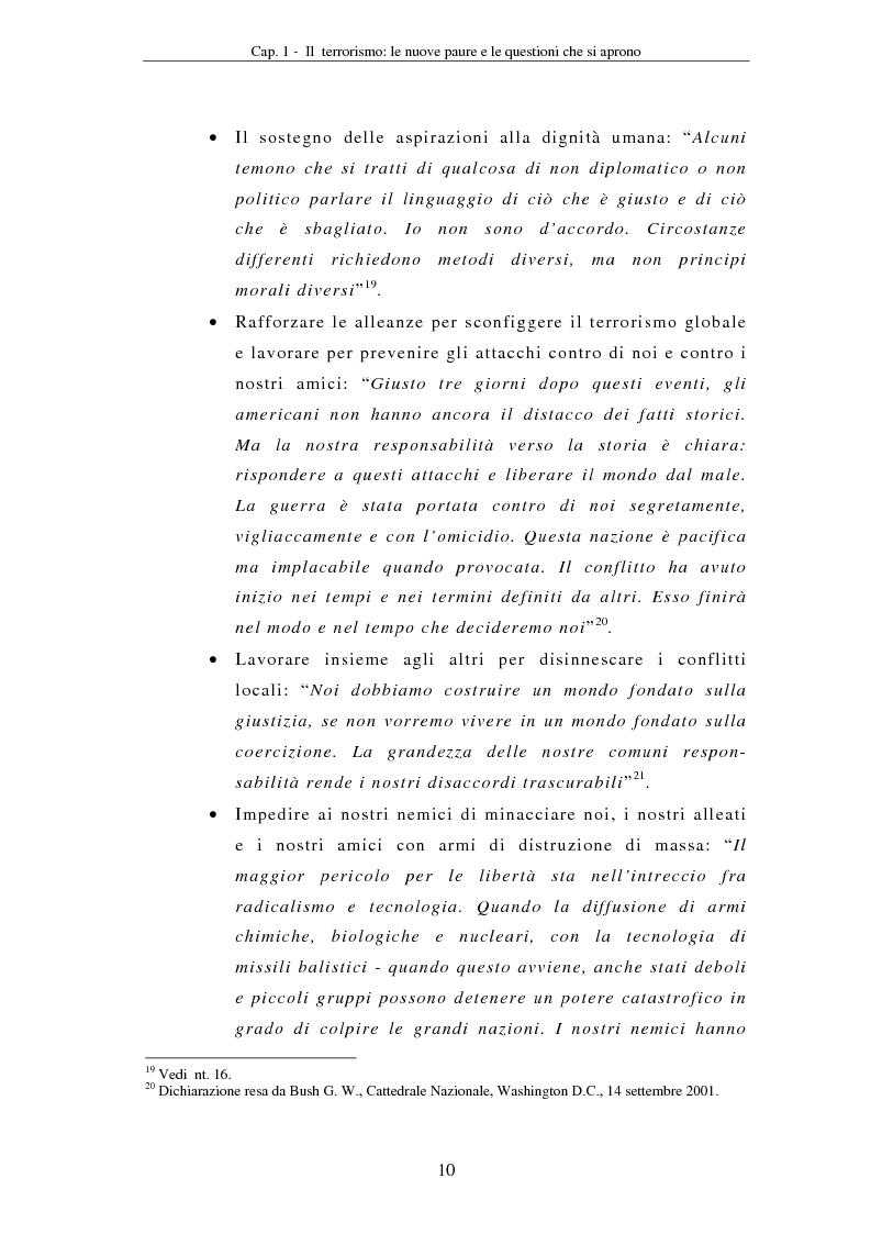 Anteprima della tesi: La compressione dei diritti costituzionali in ragione della lotta al terrorismo: il caso americano, Pagina 10