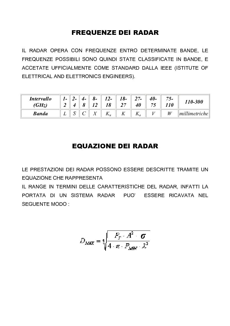 Anteprima della tesi: Principi di funzionamento del radar. Analisi teorica e misure del componente Front-End, Pagina 5