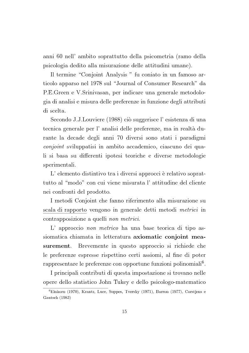 Anteprima della tesi: La Conjoint Analysis nelle ricerche di marketing, Pagina 11
