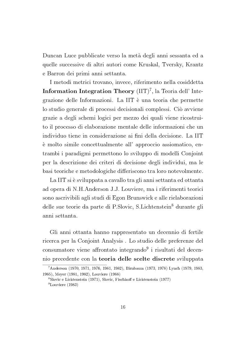 Anteprima della tesi: La Conjoint Analysis nelle ricerche di marketing, Pagina 12