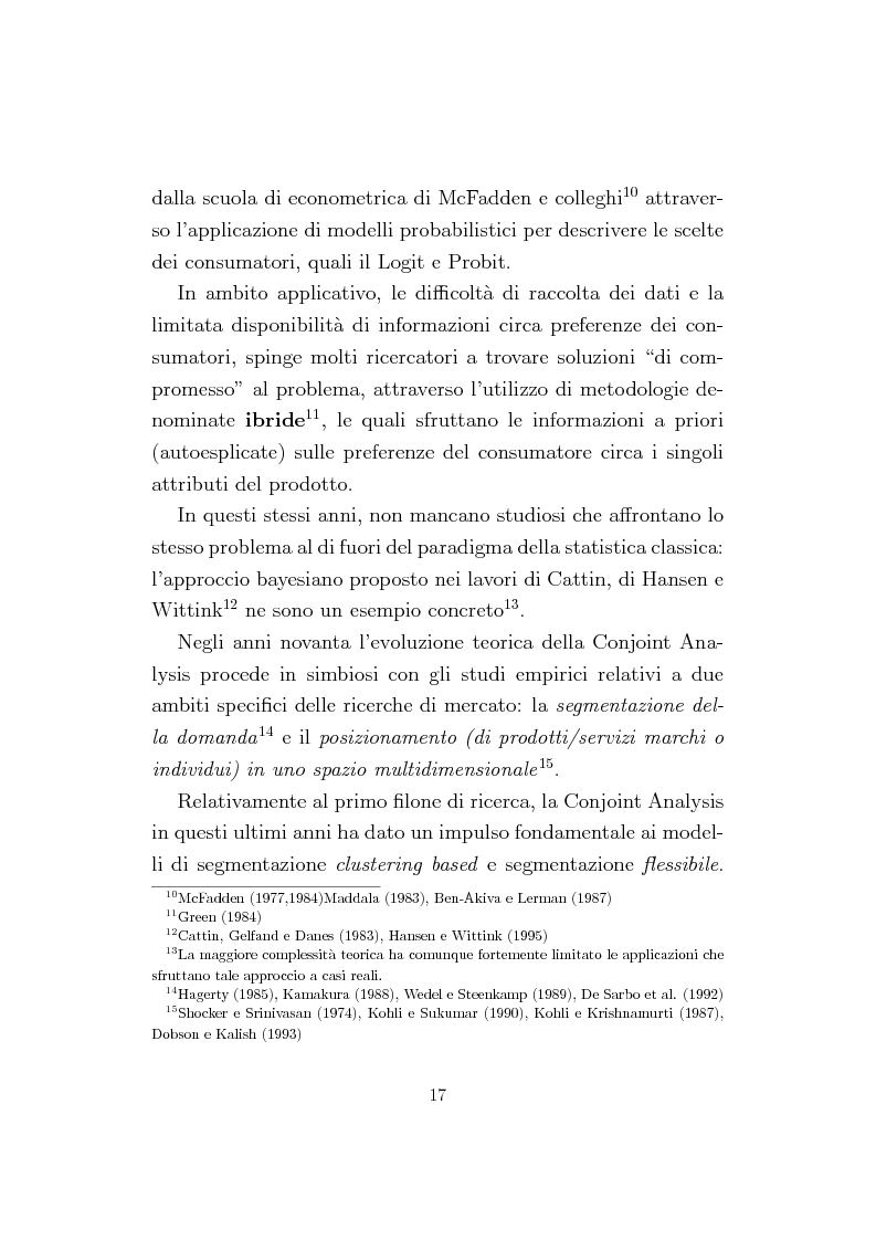 Anteprima della tesi: La Conjoint Analysis nelle ricerche di marketing, Pagina 13