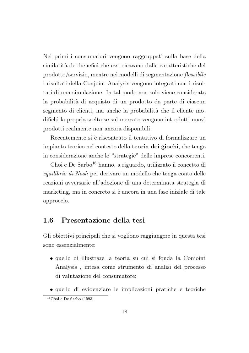 Anteprima della tesi: La Conjoint Analysis nelle ricerche di marketing, Pagina 14
