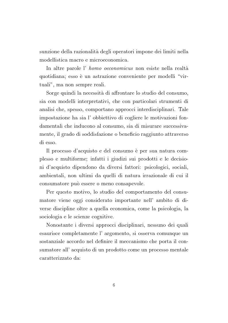 Anteprima della tesi: La Conjoint Analysis nelle ricerche di marketing, Pagina 2