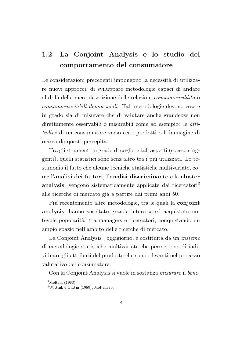Anteprima della tesi: La Conjoint Analysis nelle ricerche di marketing, Pagina 4