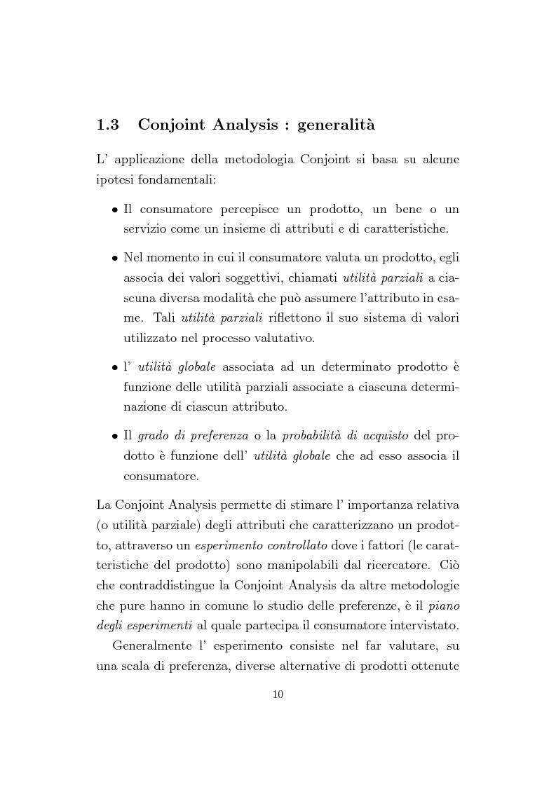 Anteprima della tesi: La Conjoint Analysis nelle ricerche di marketing, Pagina 6