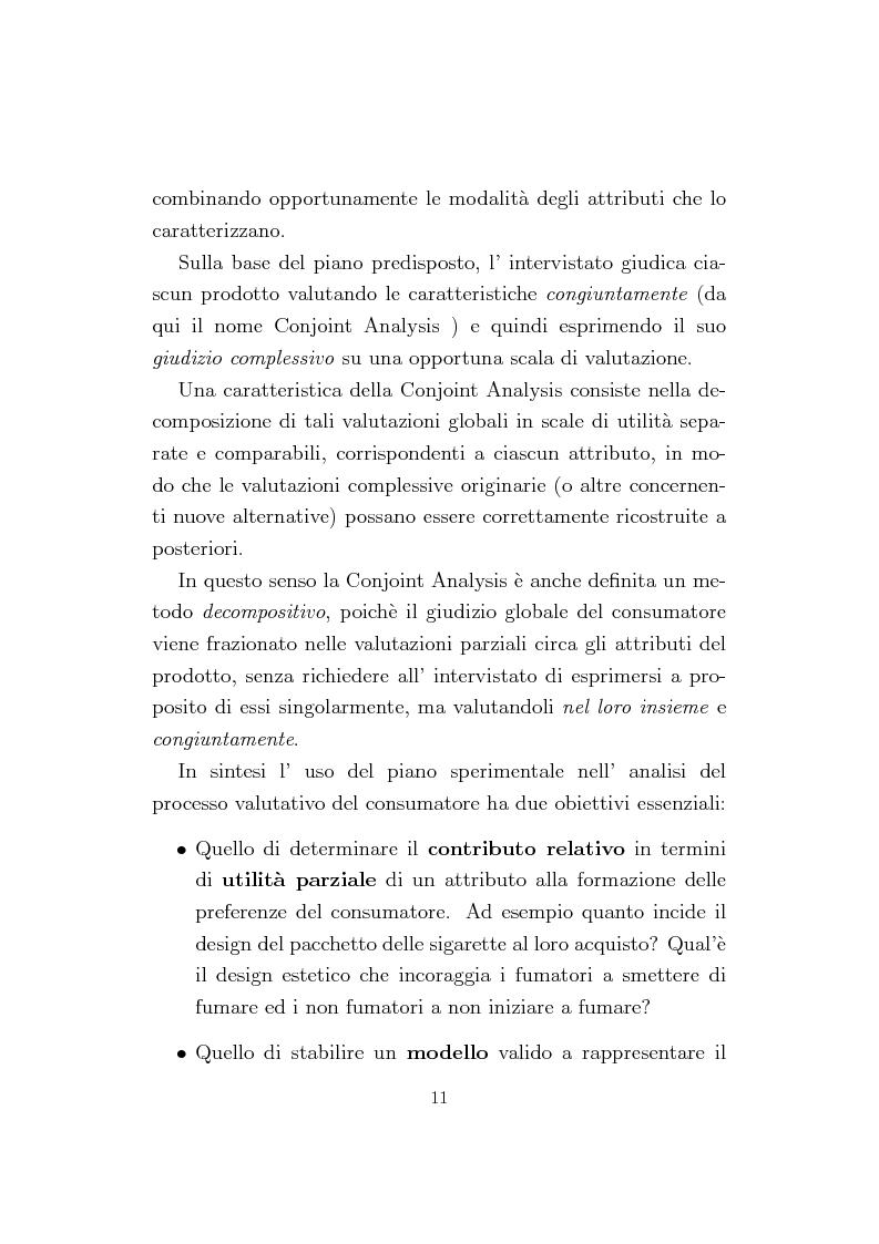 Anteprima della tesi: La Conjoint Analysis nelle ricerche di marketing, Pagina 7