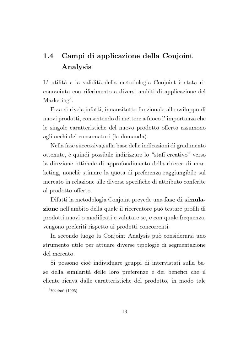 Anteprima della tesi: La Conjoint Analysis nelle ricerche di marketing, Pagina 9