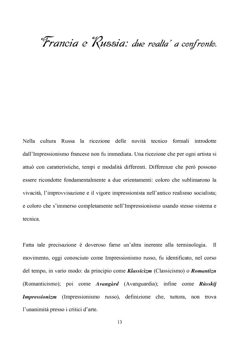 Anteprima della tesi: Impressionismo Russo, Pagina 10