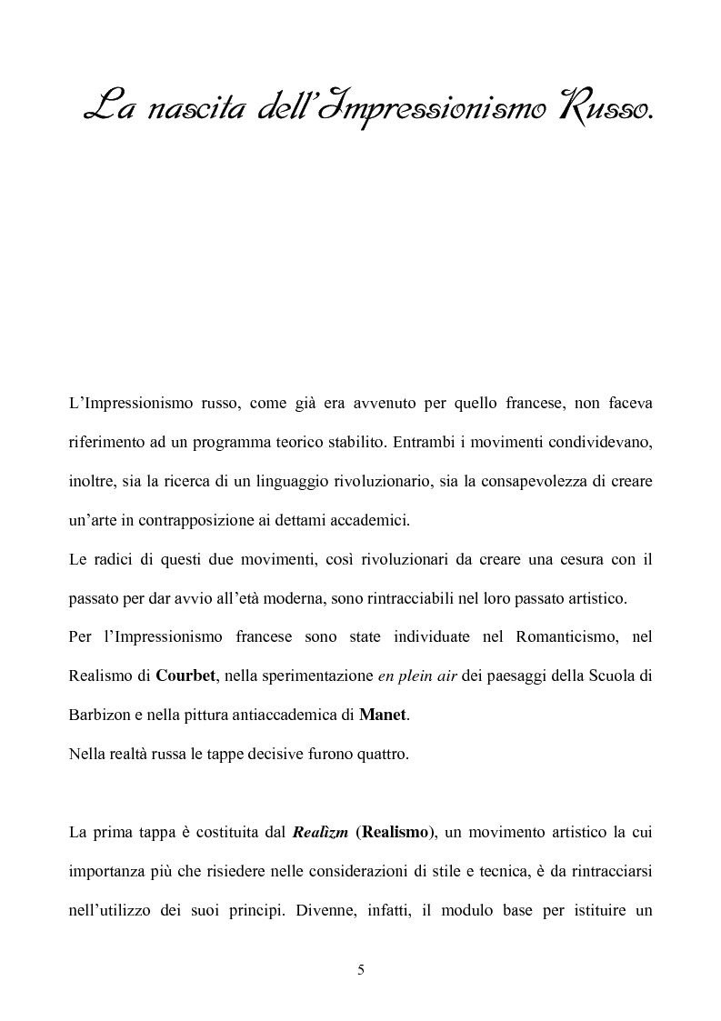Anteprima della tesi: Impressionismo Russo, Pagina 2