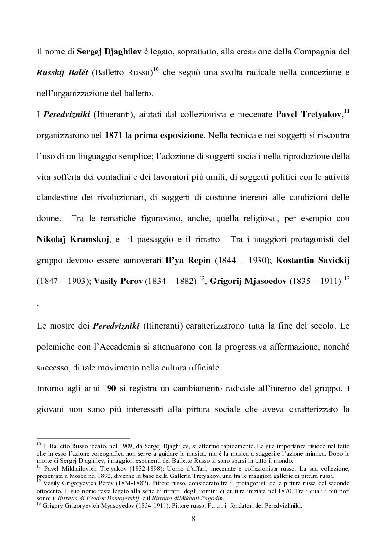Anteprima della tesi: Impressionismo Russo, Pagina 5