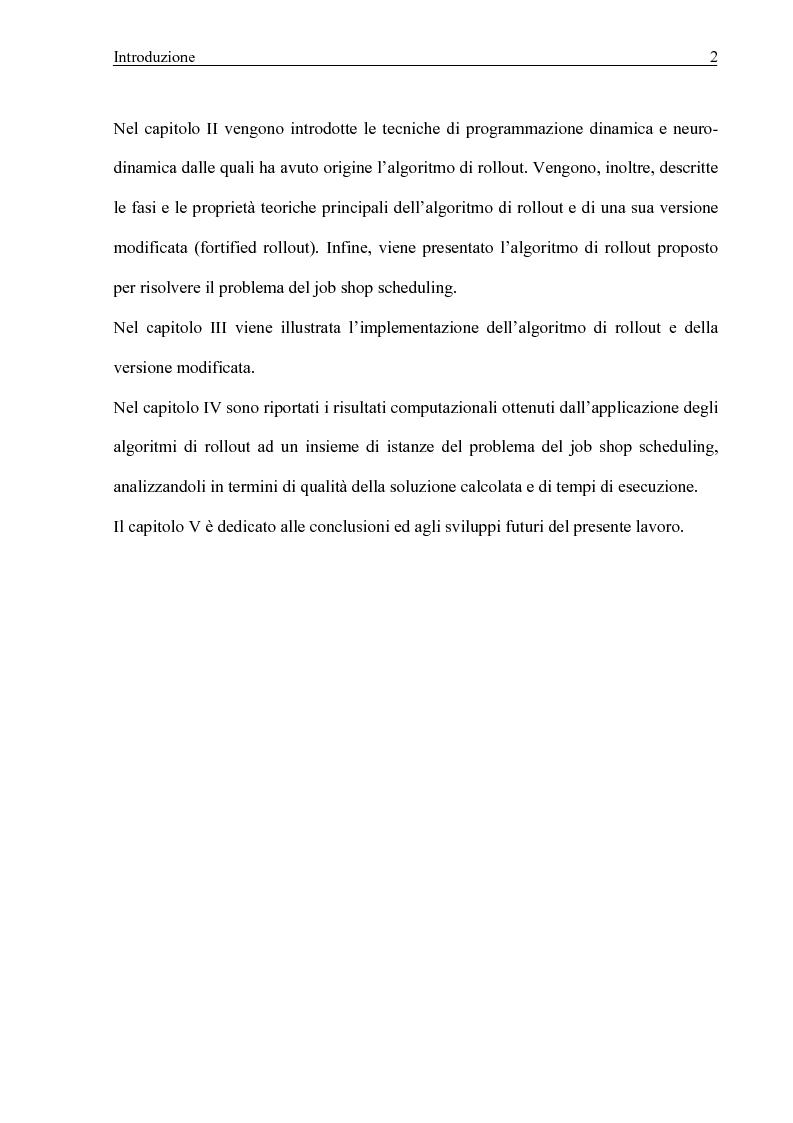 Anteprima della tesi: Algoritmi di Rollout per il problema del Job Shop Scheduling, Pagina 3