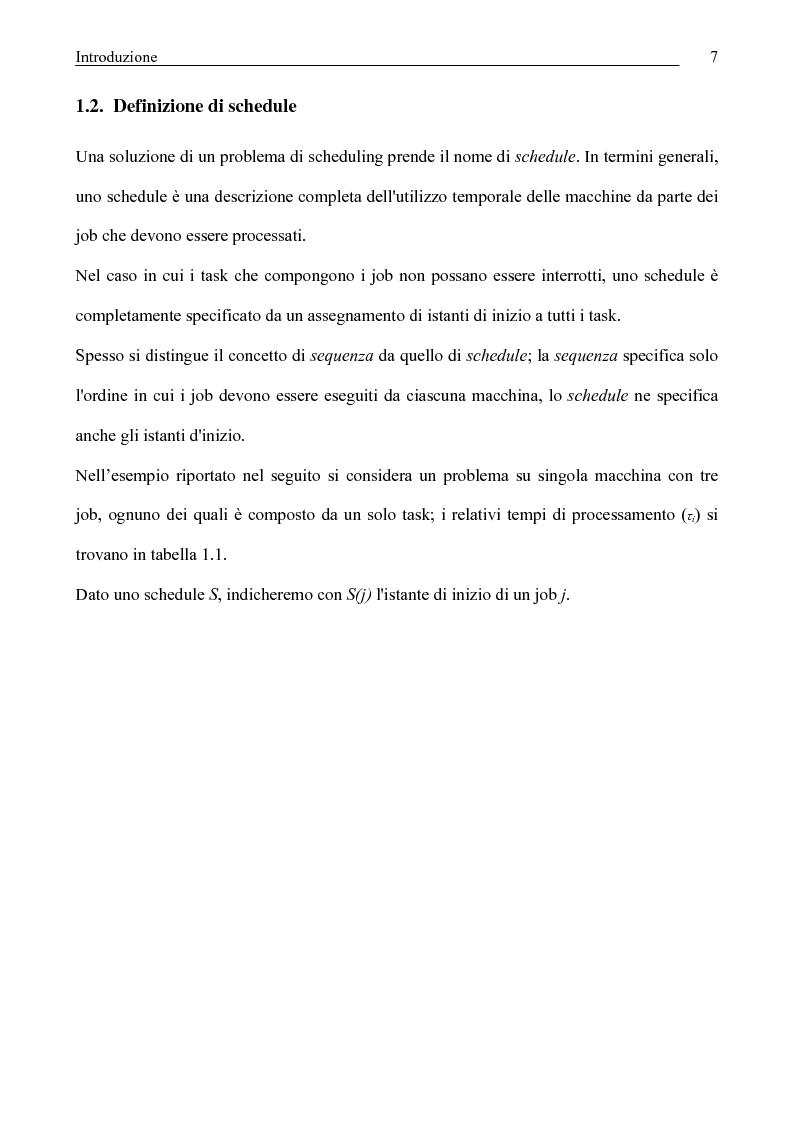 Anteprima della tesi: Algoritmi di Rollout per il problema del Job Shop Scheduling, Pagina 8