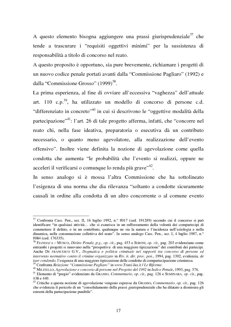 Anteprima della tesi: La responsabilità dei capi delle associazioni criminose per i delitti-scopo, Pagina 13