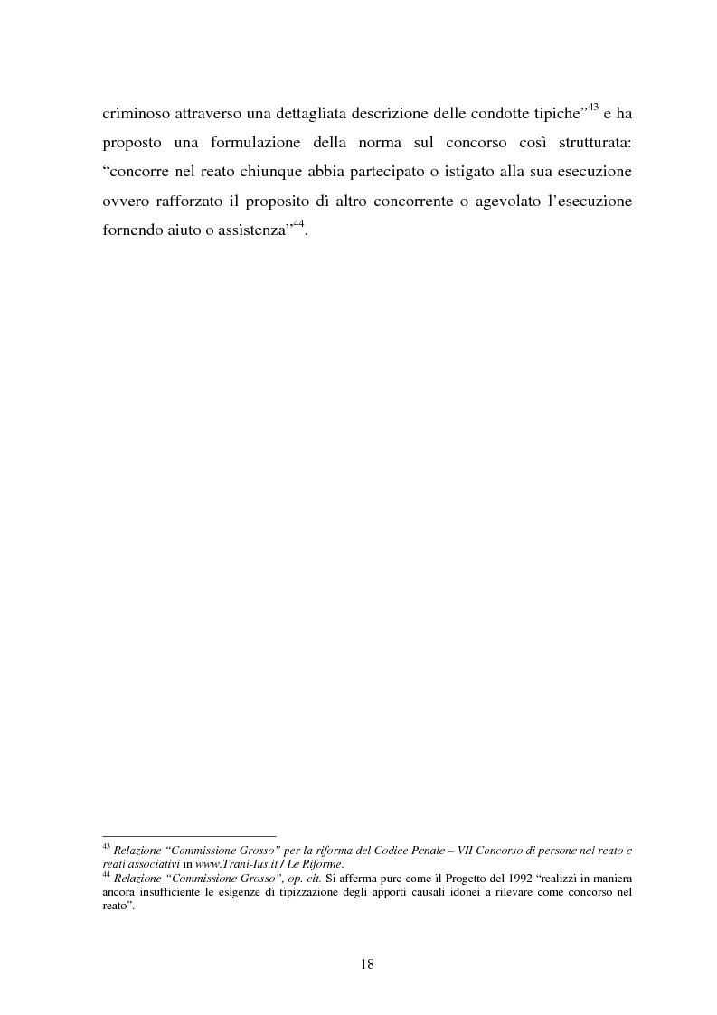 Anteprima della tesi: La responsabilità dei capi delle associazioni criminose per i delitti-scopo, Pagina 14