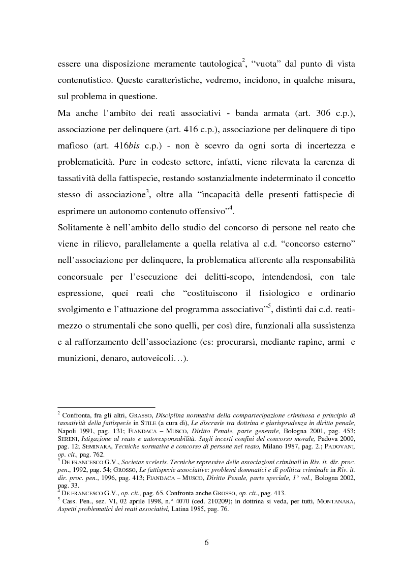 Anteprima della tesi: La responsabilità dei capi delle associazioni criminose per i delitti-scopo, Pagina 2