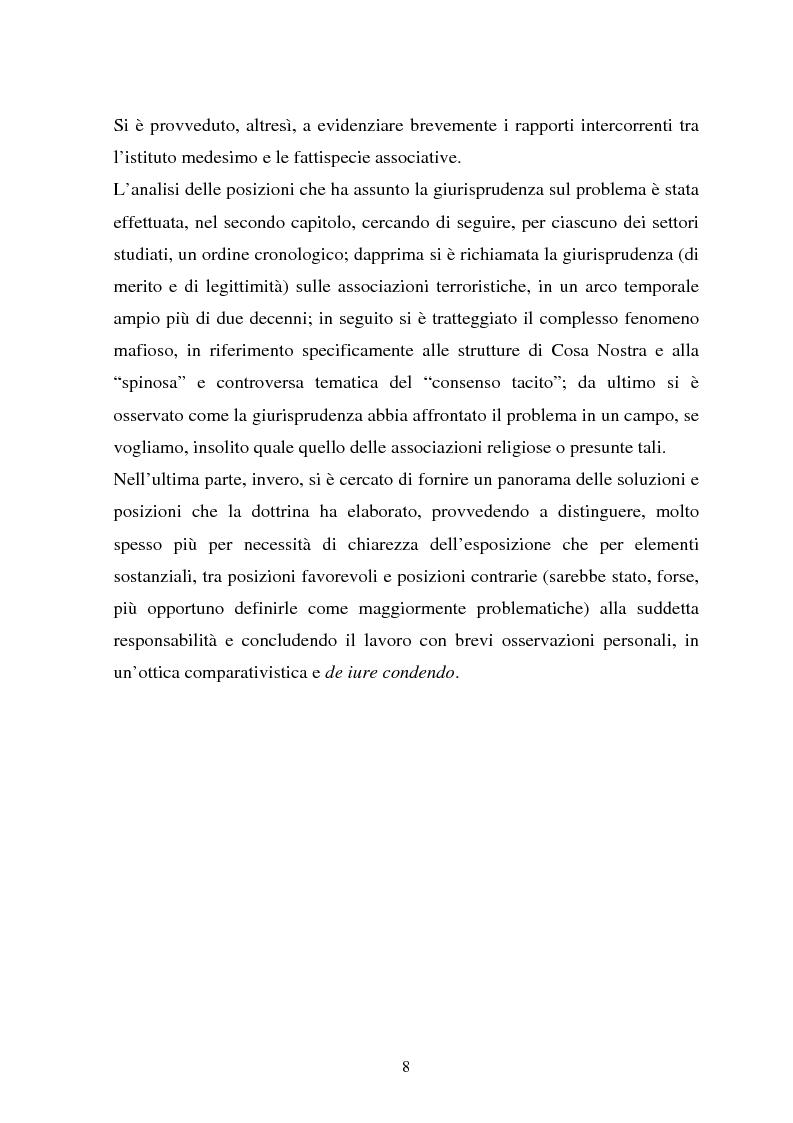 Anteprima della tesi: La responsabilità dei capi delle associazioni criminose per i delitti-scopo, Pagina 4