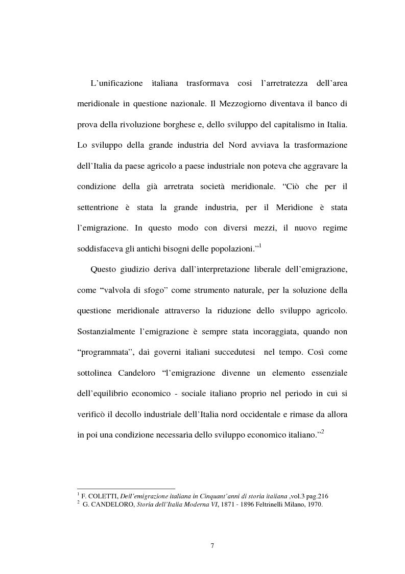 """Anteprima della tesi: """"Ti o visto nella foto e sembra che non hai cambiato niente"""". L'emigrazione tra corrispondenza e fotografia., Pagina 5"""