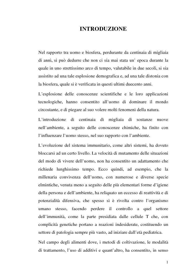 Anteprima della tesi: Aspetti eziopatogenetici e di prevenzione di patologie alimentari: morbo celiaco, Pagina 1