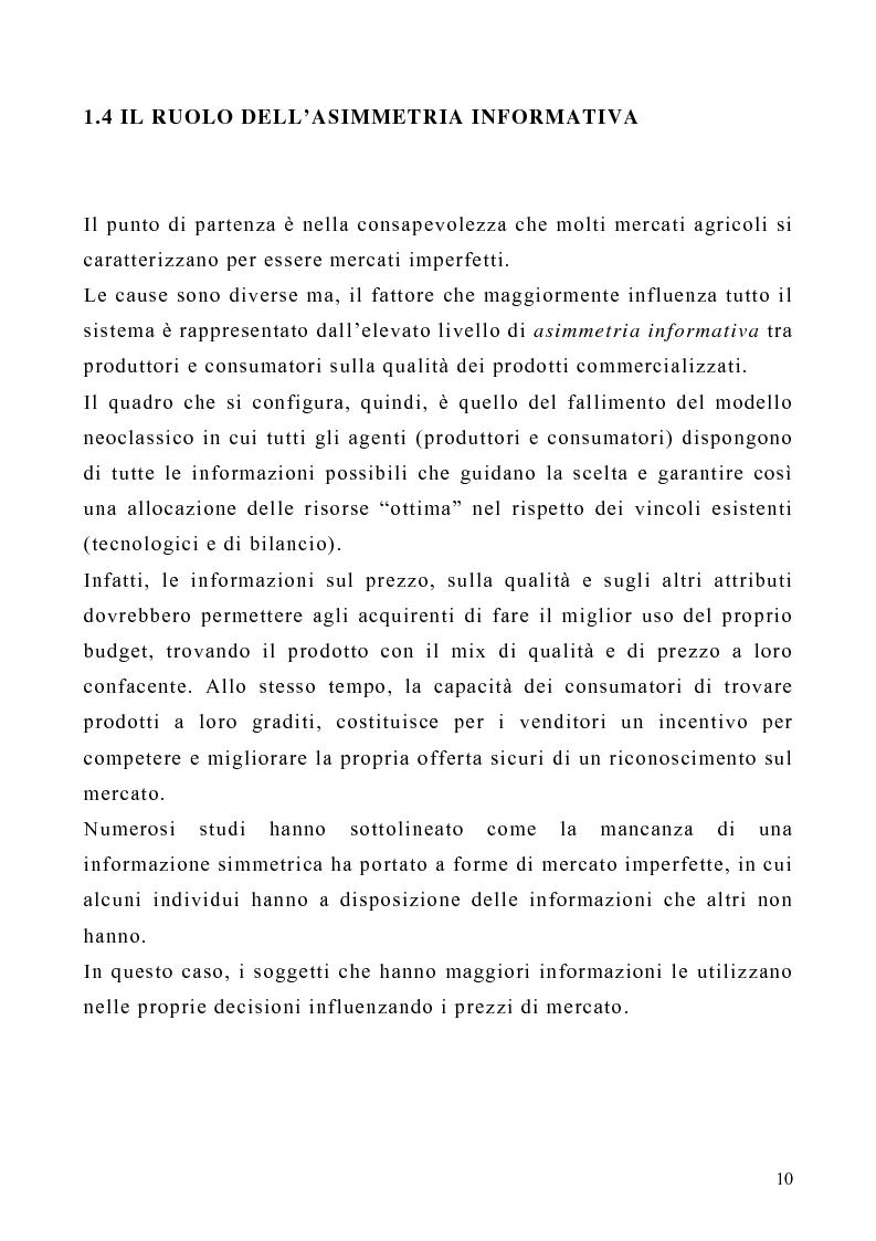 Anteprima della tesi: Il ruolo dei marchi collettivi nel settore agroalimentare: il caso della ''farfalla bianca'', Pagina 10