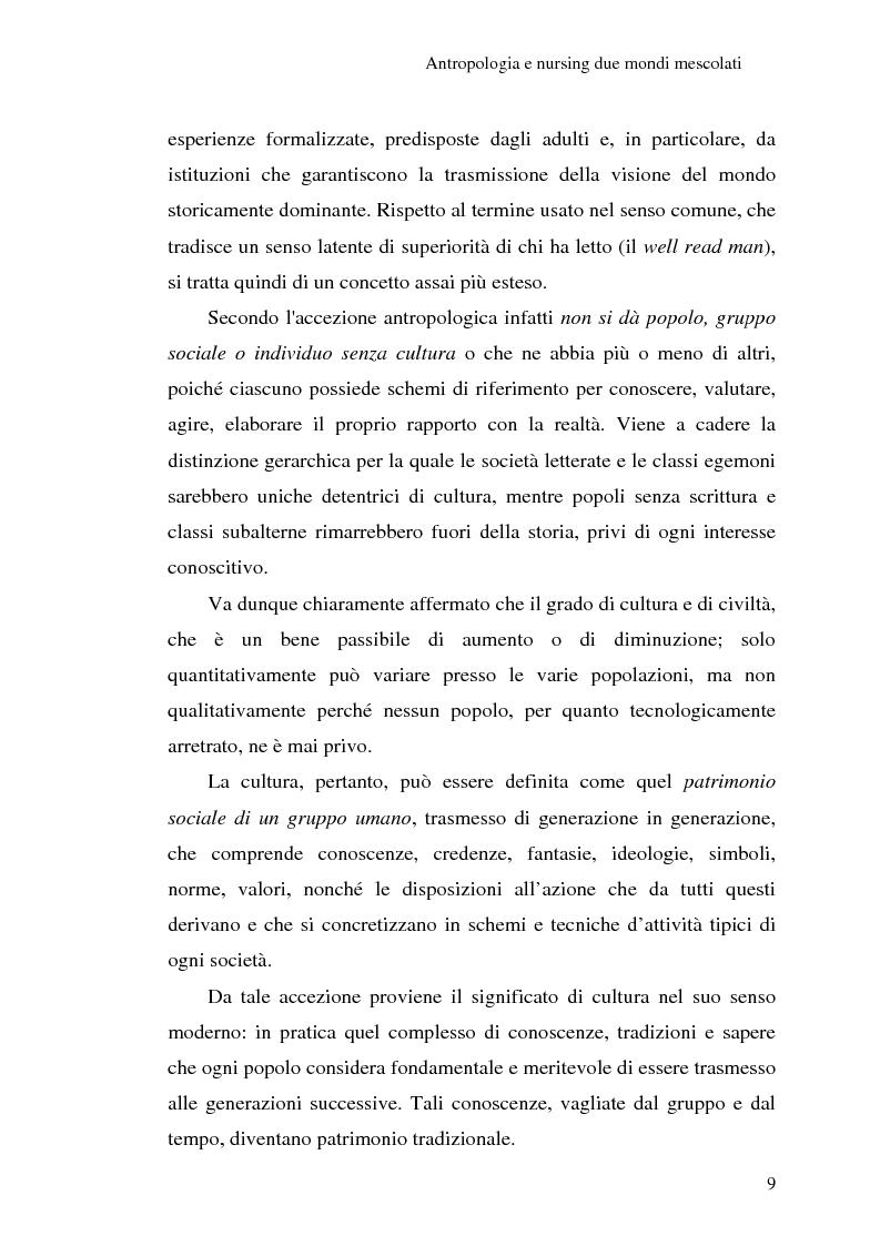 Anteprima della tesi: Madeleine Leininger e il nursing transculturale, Pagina 13