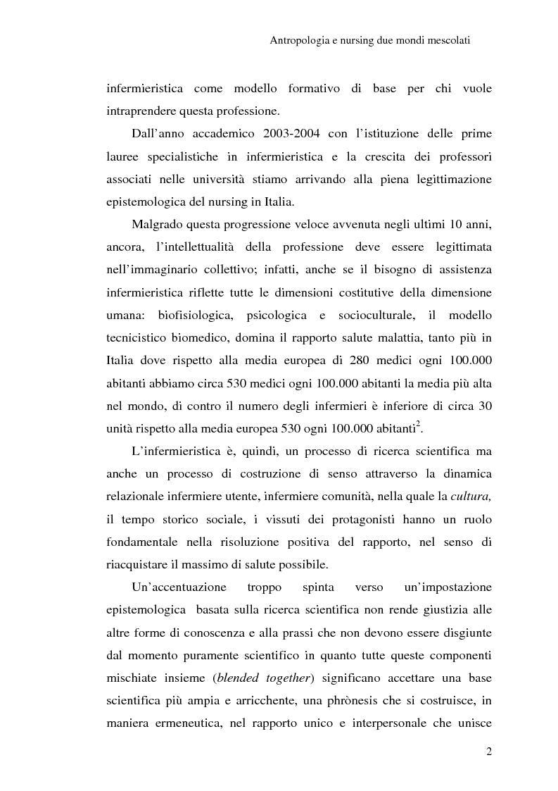 Anteprima della tesi: Madeleine Leininger e il nursing transculturale, Pagina 6