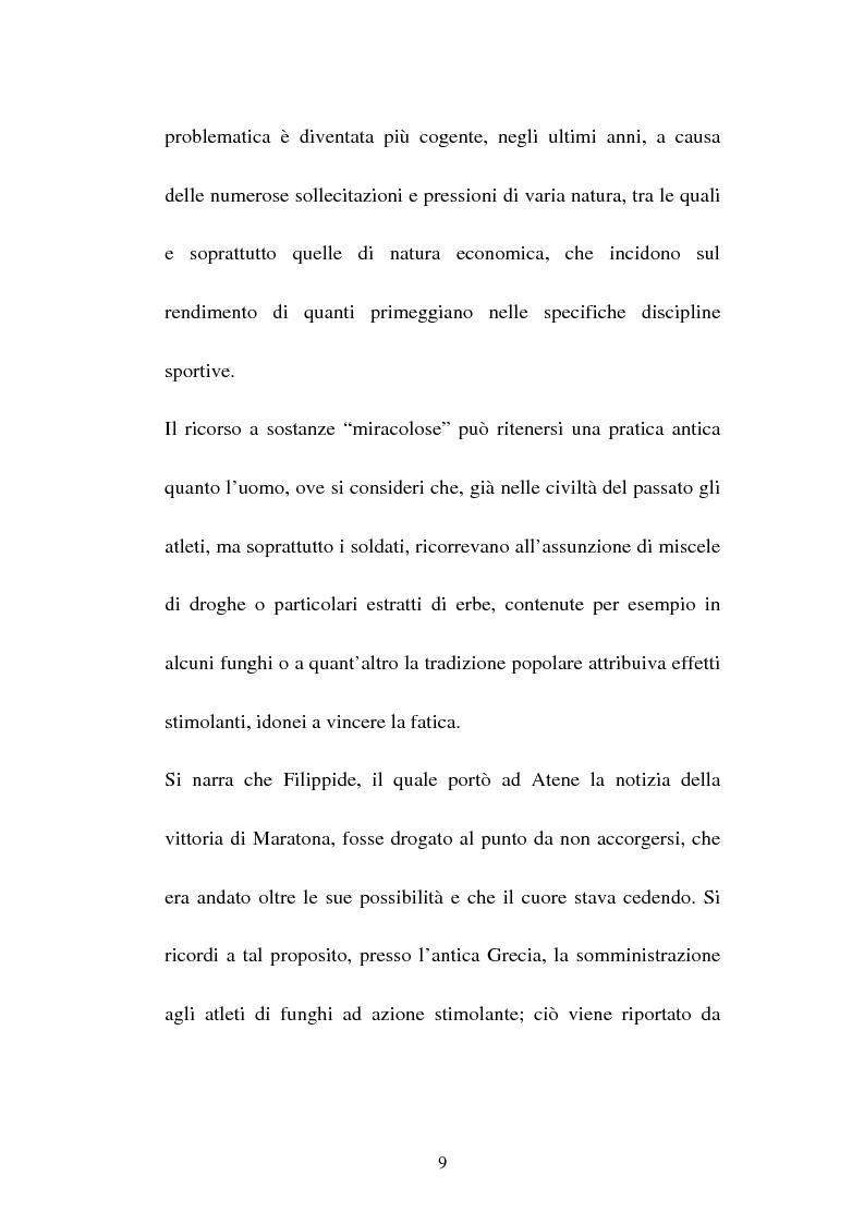 Anteprima della tesi: Attività sportiva e legislazione antidoping, Pagina 5