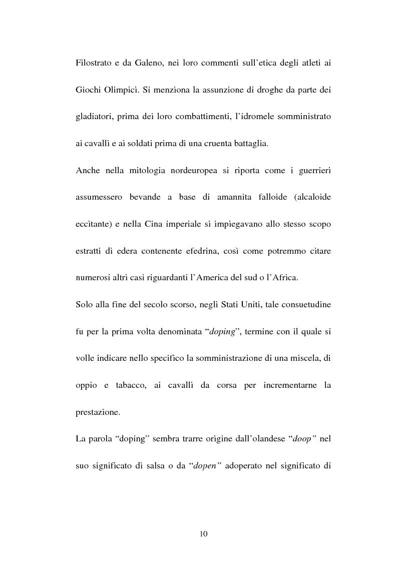Anteprima della tesi: Attività sportiva e legislazione antidoping, Pagina 6