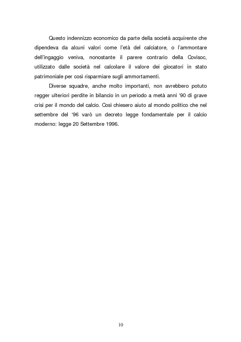 Anteprima della tesi: La quotazione in borsa di società calcistiche. Analisi del caso italiano e comparazione europea., Pagina 10