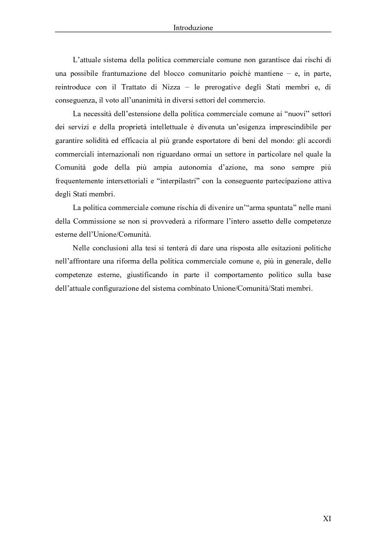 Anteprima della tesi: Profili giuridici della partecipazione della Comunità Europea all'OMC: l'evoluzione delle competenze esterne, Pagina 4
