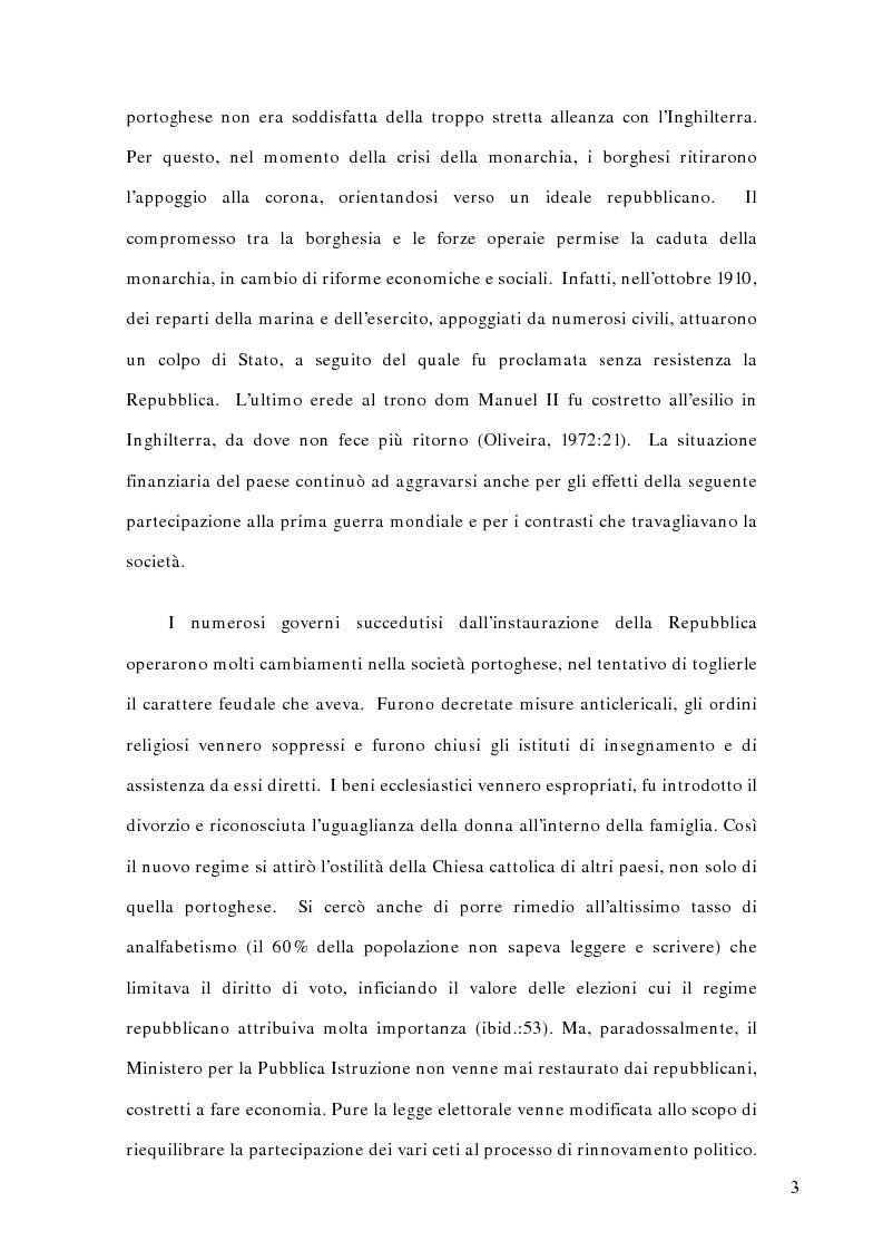 Anteprima della tesi: La politica estera del Portogallo e l'Europa, Pagina 2