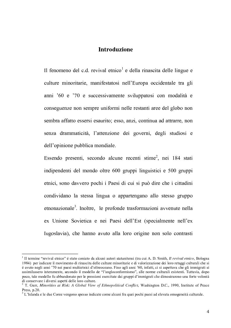 Anteprima della tesi: La tutela delle minoranze nel Diritto Internazionale, il caso dei Curdi di Turchia, Pagina 1