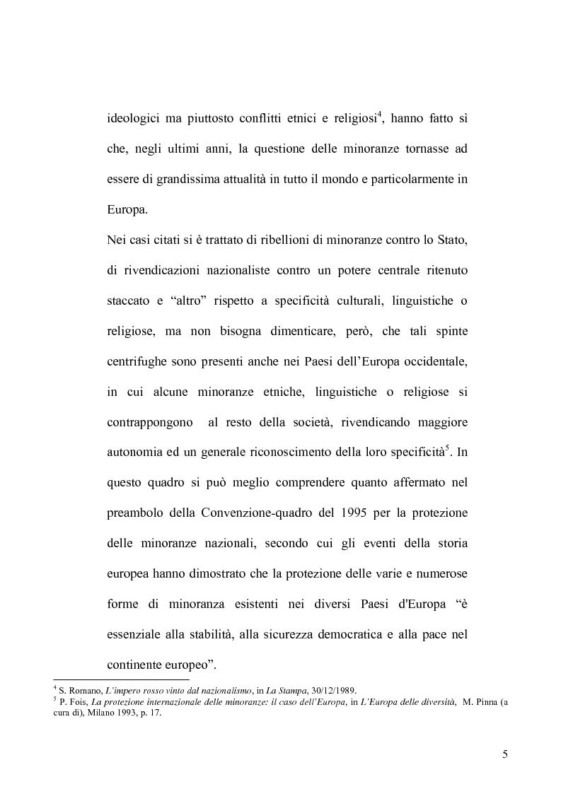 Anteprima della tesi: La tutela delle minoranze nel Diritto Internazionale, il caso dei Curdi di Turchia, Pagina 2