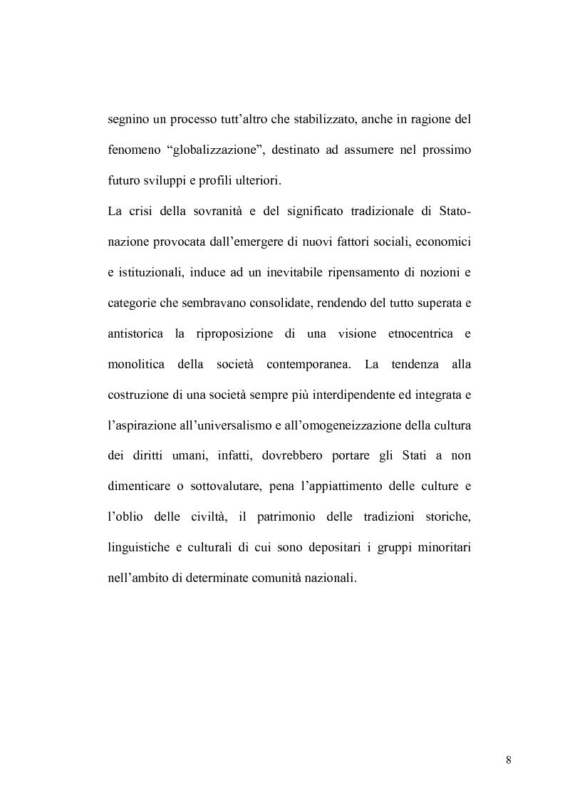 Anteprima della tesi: La tutela delle minoranze nel Diritto Internazionale, il caso dei Curdi di Turchia, Pagina 5