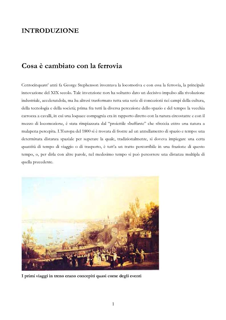 Anteprima della tesi: Infrastruttura e territorio: analisi storica del rapporto tra ferrovia e spazio abitato, Pagina 1