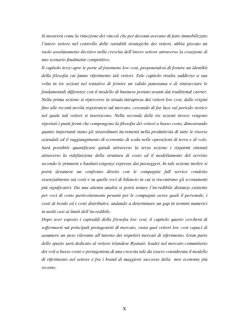 Anteprima della tesi: La recente evoluzione del mercato del trasporto aereo: il fenomeno delle Low Cost Airlines, Pagina 7
