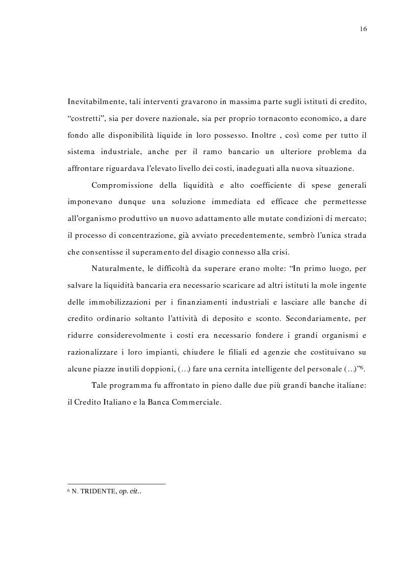 Anteprima della tesi: La concentrazione bancaria in Italia: analisi del processo di evoluzione storica in rapporto alle realtà economiche di altri paesi, Pagina 12