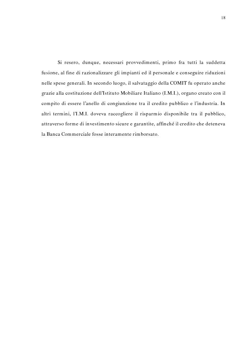 Anteprima della tesi: La concentrazione bancaria in Italia: analisi del processo di evoluzione storica in rapporto alle realtà economiche di altri paesi, Pagina 14