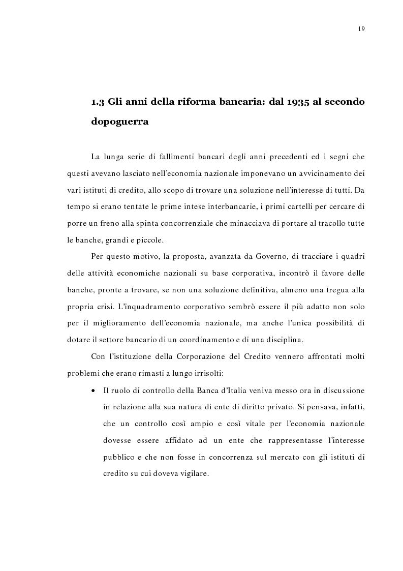 Anteprima della tesi: La concentrazione bancaria in Italia: analisi del processo di evoluzione storica in rapporto alle realtà economiche di altri paesi, Pagina 15