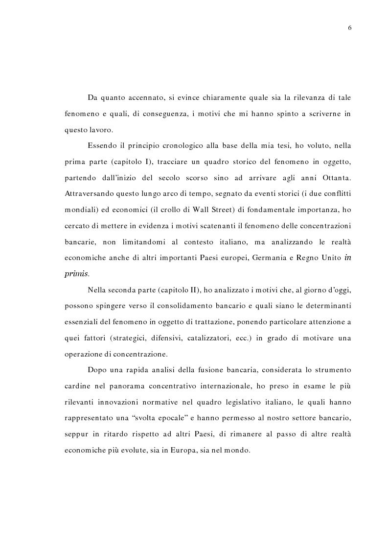 Anteprima della tesi: La concentrazione bancaria in Italia: analisi del processo di evoluzione storica in rapporto alle realtà economiche di altri paesi, Pagina 2