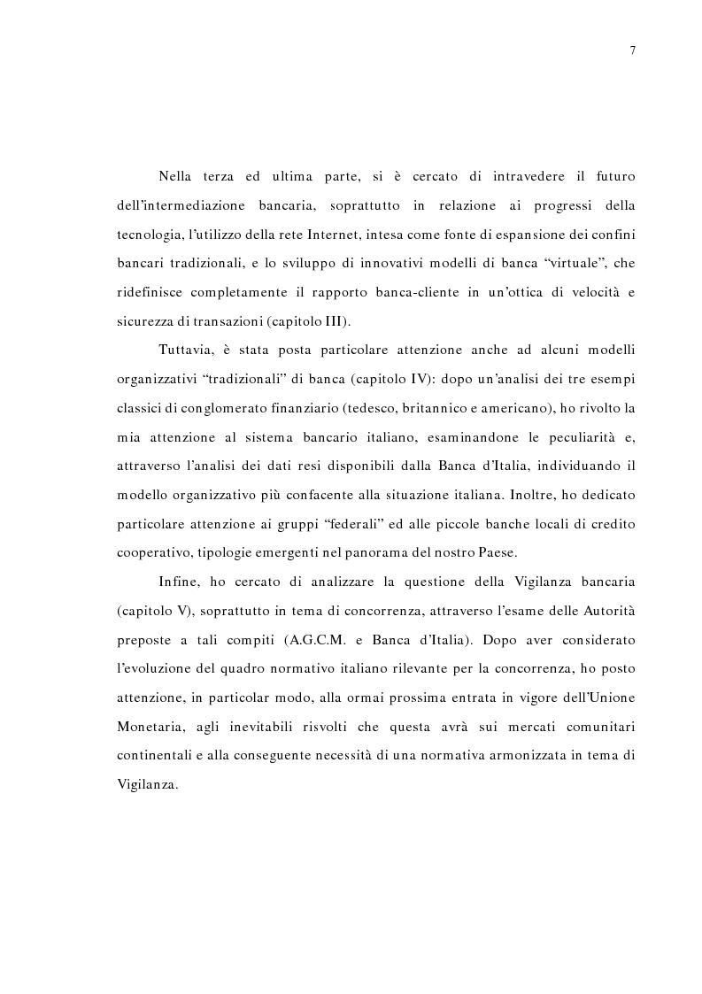 Anteprima della tesi: La concentrazione bancaria in Italia: analisi del processo di evoluzione storica in rapporto alle realtà economiche di altri paesi, Pagina 3
