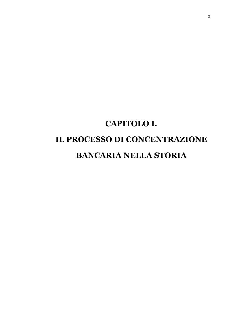 Anteprima della tesi: La concentrazione bancaria in Italia: analisi del processo di evoluzione storica in rapporto alle realtà economiche di altri paesi, Pagina 4