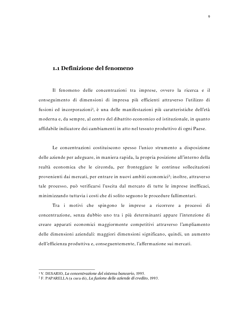 Anteprima della tesi: La concentrazione bancaria in Italia: analisi del processo di evoluzione storica in rapporto alle realtà economiche di altri paesi, Pagina 5