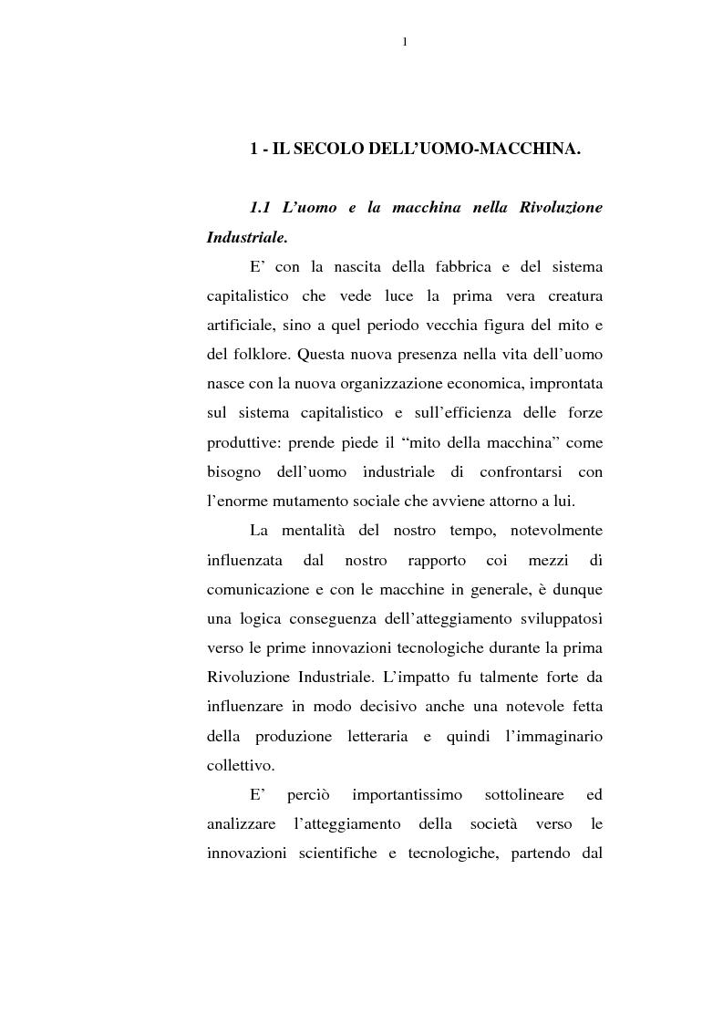 Anteprima della tesi: Il corpo tecnologico: verso un nuovo modello relazionale, Pagina 10