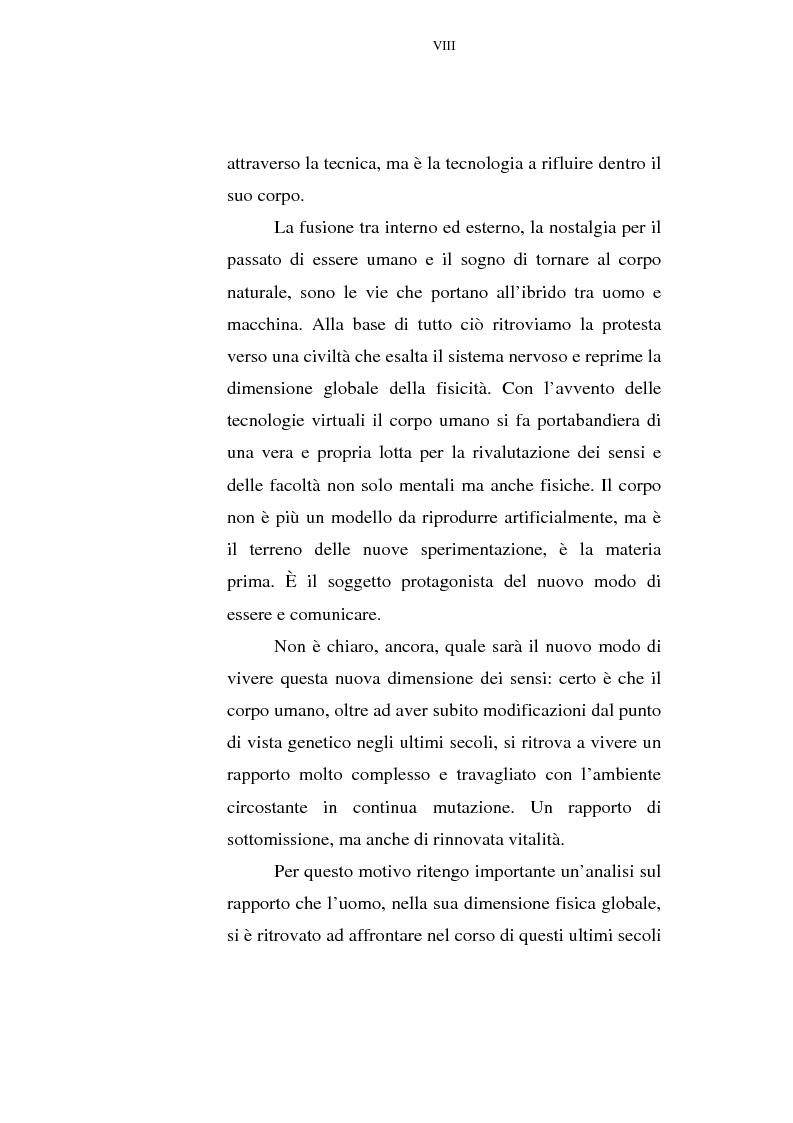 Anteprima della tesi: Il corpo tecnologico: verso un nuovo modello relazionale, Pagina 8