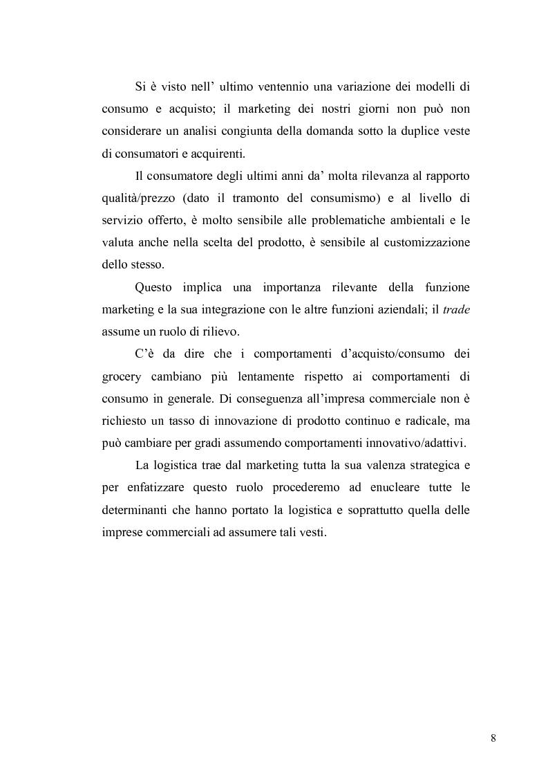 Anteprima della tesi: Evoluzione del ruolo della logistica nella distribuzione moderna, Pagina 15
