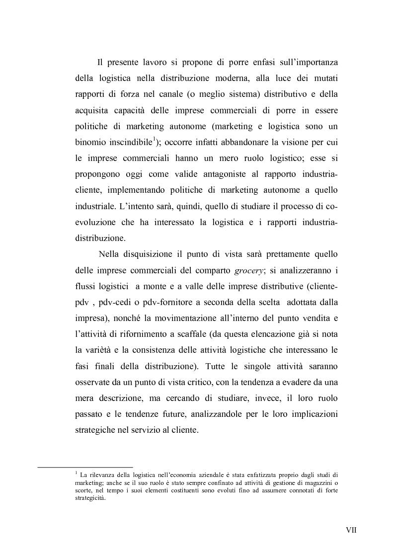 Anteprima della tesi: Evoluzione del ruolo della logistica nella distribuzione moderna, Pagina 4