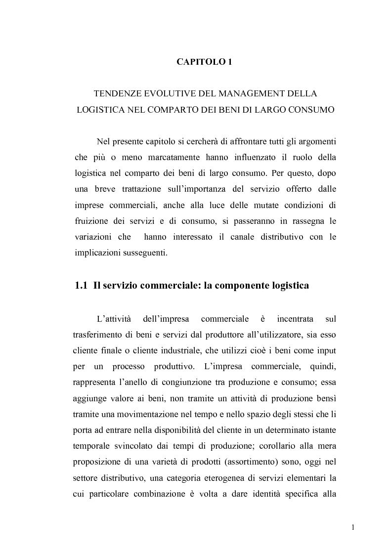 Anteprima della tesi: Evoluzione del ruolo della logistica nella distribuzione moderna, Pagina 8