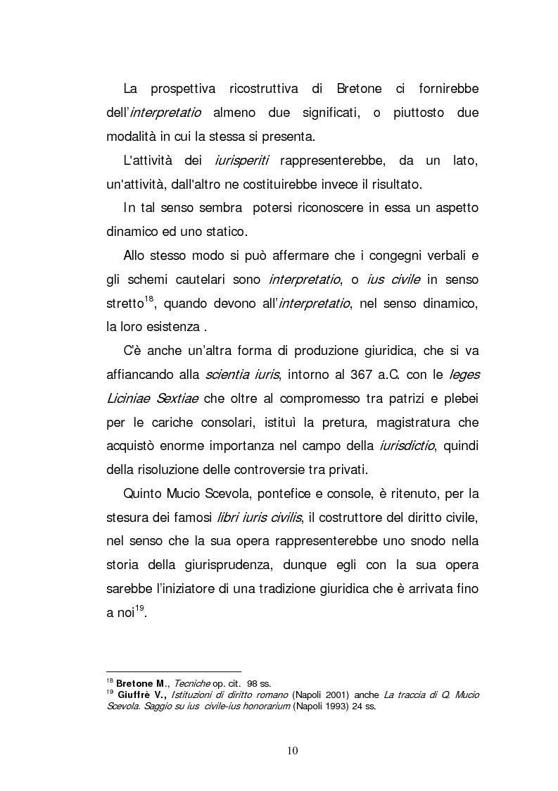 Anteprima della tesi: L'elaborazione casistica del diritto: esperienza romana ed anglosassone, Pagina 10